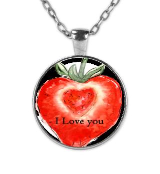 Erdbeer Herz Valentinstag Geschenk idee