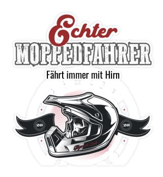 Sticker - Echter Motocrosser mit HIrn