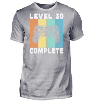 30 Geburtstag Level Complete Bunt
