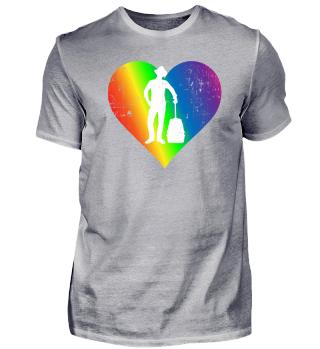 Putujuci Pride Rainbow Heart