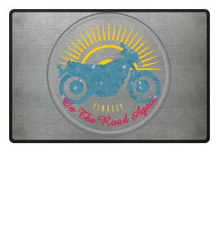 Vintage Motorrad Biker Fußmatte schwarz