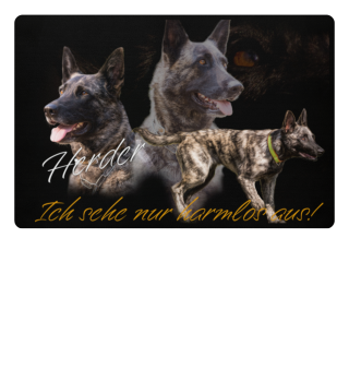 Holländischer Schäferhund - Collage Fußmatte und Mousepad