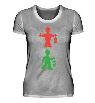Damen Premium-Shirt – Bergmannsampel