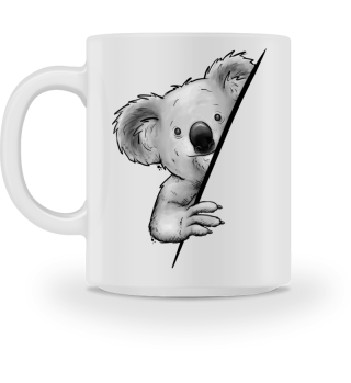 Süßer Koala Coole Koalabär Illustration