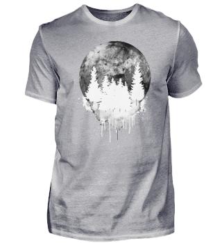 T-Shirt Herren Zerrinnender Traum weiß