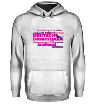 Deutsch Drahthaar - Spruch pink