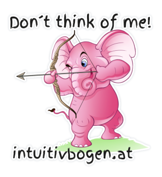 Rosa Elefant Sticker