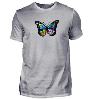 Schmetterling, stark leuchtend