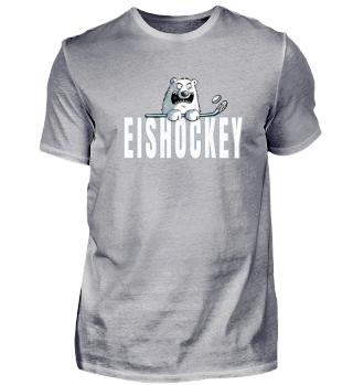 Eisbär spielt Eishockey I Bär I Geschenk