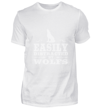 Easily Distracted By Wolfs Funny Wolf De