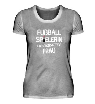 Fussball Spielerin - einzigartige Frau
