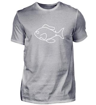 Fisch Zeichnung für Angler und Meer Fans