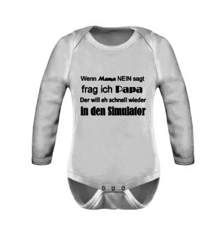 Simracer Babystrampler