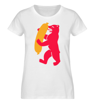 Berlin Bear Currywurst - Womens T-Shirt