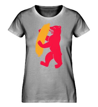 Berlin Bear Currywurst - Womens T-Shirt