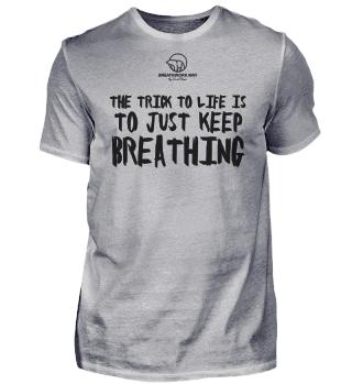 KEEP BREATHING shirt men white