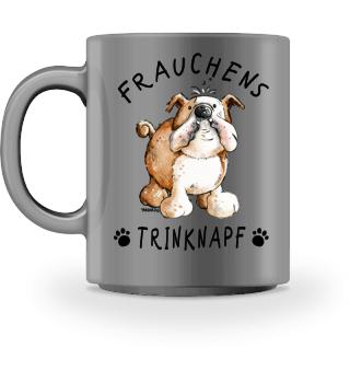 Frauchens Trinknapf Englische Bulldogge
