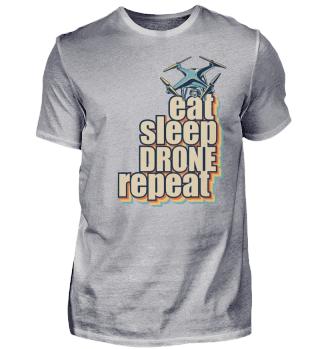 Eat Sleep Drone Repeat - Vintage Style