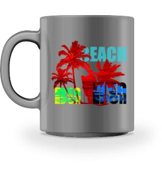Beach Strand Palmen Urlaub Design