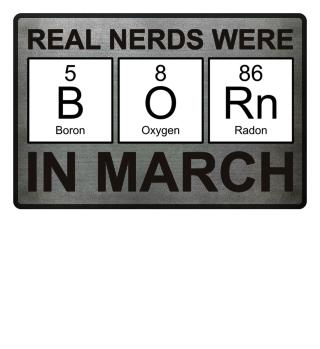 Periodic Elements - BORN march black