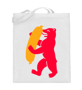 Berlin Bear With Currywurst - Tote Bag