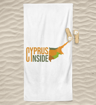 CYPRUS INSIDE beach towel