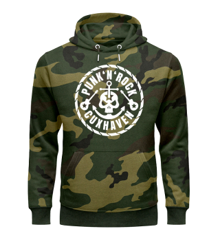 Army-Style Hoodie / Camouflage   Punk & Rock