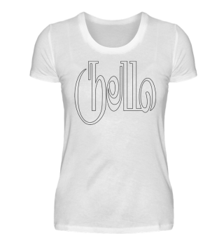 Art Deco HELLO zum Ausmalen - black
