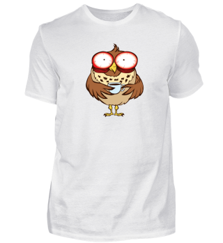 Funny Owl Drinking Coffee Shirt Gift