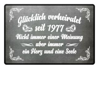 Glücklich verheiratet seit 1977...