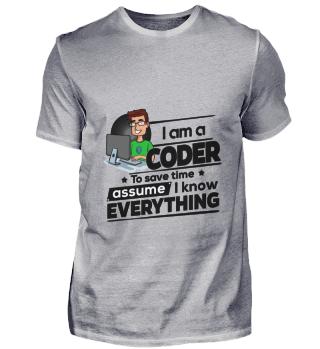 D001-0335B Proud Coder Programmierer - T
