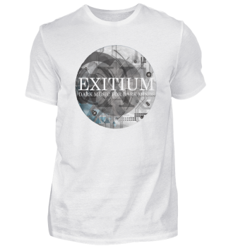 Exitium Shirt Design A (White On Black)