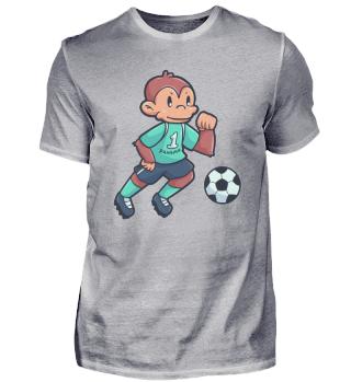 Affe Fussball Sport Spiel Geschenk