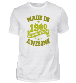 Made in 1980 Birthday Gifts