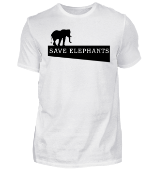 SAVE elephants - black