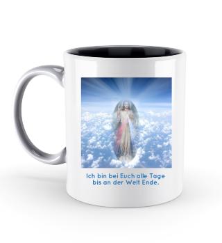 Tasse Jesus Christus bei Euch alle Tage bis an der Welt Ende