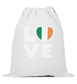 I love LOVE Ireland Flag Flag Heart