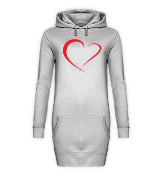 Hoodie-Kleid mit Designerherz
