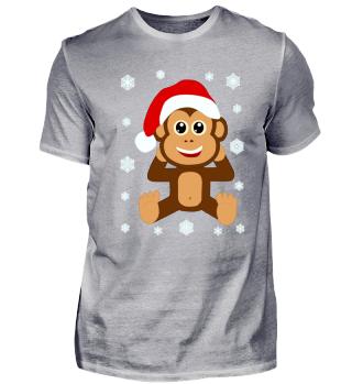 Weihnachts Baby Schimpanse Santa Claus