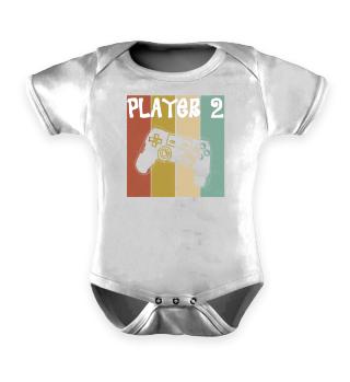 Retro Vater Sohn Partnerlook Player 2