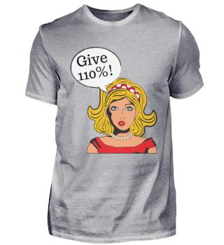 Gib 110% Comic t-shirt design Mindset