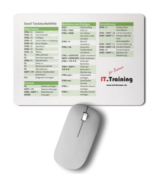 Excel Tastaturbefehle Mousepad