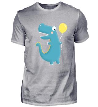 Dinosaurier mit Ballon I Geburtstag
