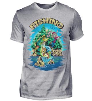 Angeln Angler Hase Fishing Barsch