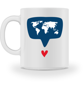 World with Heart Mug