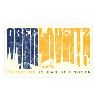 Oberlausitz Skyline - Aufkleber