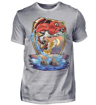 Angeln Angler Koi Karpfen Fisch