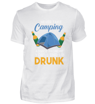 Funny Camping Festival Tent Drinking