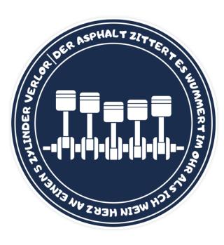 Sticker-5 Zylinder-Herz