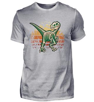 Retro Wald Velociraptor Skelett Raptor
